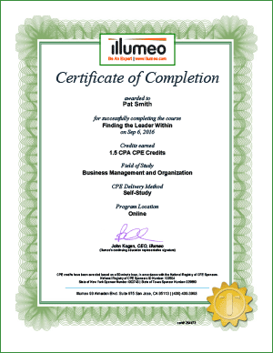 sample CPE certificate
