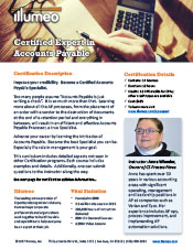 Accounts Payable Expert Certification Flyer