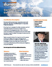 Corporate Property Insurance Certification Flyer