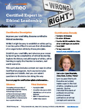 Ethics Expert Certification Flyer