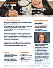 Internal Controls Specialist Certification Flyer