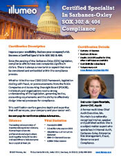 SOX 302 & 404 Expert Certification Flyer