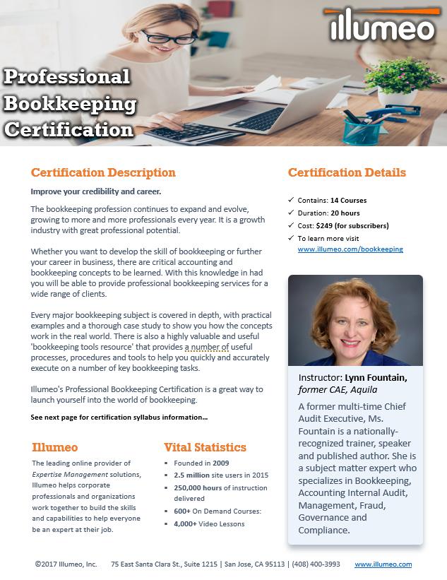 Bookkeeping Certification Flyer
