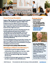 Introductino to Financial Accounting Illumeo for Educators Flyer