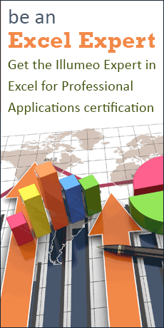 be an Excel Expert - Get the Illumeo Expert in Excel for Professional Applications certification