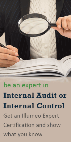 be an expert in Internal Audit or Internal Control - Get an Illumeo Expert Certification and show what you know