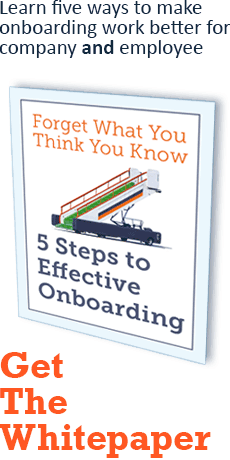 Learn five ways to make onboarding work better for company and employee - Get The Whitepaper