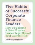 Five Habits of Successful Corporate Finance Leaders
